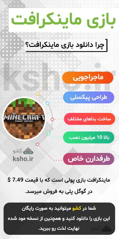 اینفوگرافی بازی ماینکرافت - دانلود ماینکرافت اندروید